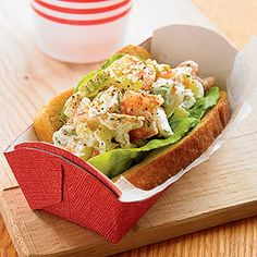 In New England, lobster rolls are one of summer's supreme pleasures. Here's a twist on the theme using shrimp and crab instead.