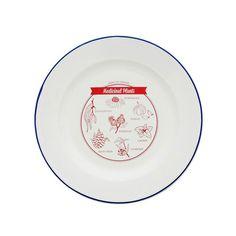 PLATE   'medicinal plants' enamel plate   Cranmore Home