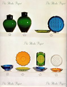 The Blenko Project is dedicated to recording the past, analyzing the present and being an advocate for the growth and preservation of BLENKO GLASS. Blenko Glass, Preserves, Glass Art, Porcelain, Pottery, Collections, Projects, Vintage, Beautiful