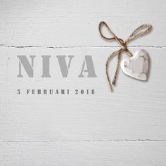Geboortekaartje Niva Birth Announcements, Baby Cards, Place Cards, Place Card Holders, Beautiful, Bebe, Names