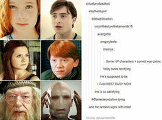 The correct eye colours