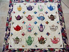 teapot wallhanging  I have a pattern; hope I can make one someday