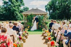 Peppermint Love Photography | Colourful Outdoor Wedding at Shillingstone House, Dorset | Madeira Willowby by Watters Wedding Dress | Morris Dancers