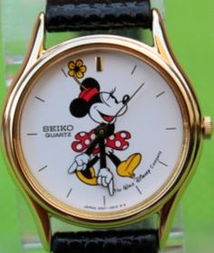 Minnie Mouse Watch Disney Seiko Women's Watch by MrTicToc on Etsy