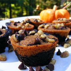 """Pumpkin Brownies I """"This recipe is awesome - and award winning! I won most creative after I made this for a Halloween bake off at work!"""""""