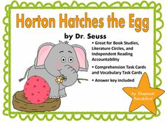 Horton Hatches the Egg Comprehension and Vocabulary Task Cards