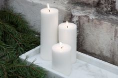 Candle 7x20 cm White
