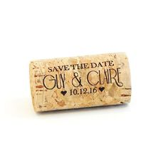 Save The Date Whole Corks - Option to add magnet or Key Chain - CorkeyCreations.com