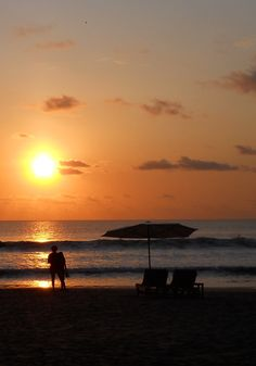 Romantic Sundet at Jimbaran Beach, Bali.