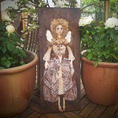Angel Wall Hanging - Angel Doll - Art Doll - Fantasy Doll - Porcelain Doll - Artistic Doll - Doll - Fantasy - Angel - Fine Art Doll - by Rustiikkitupa on Etsy