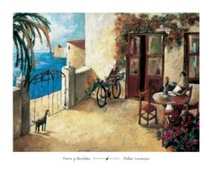 Perro y Bicicleta Print by Didier Lourenco at Art.com