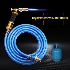 Electronic Ignition Liquefied Gas Welding Torch Kit with Hose for Soldering Cooking Brazing Heating Lighting Welding Gun, Welding Torch, Welding Jobs, Welding Projects, Welding Supplies, Diy Welding, Build A Coffee Table, Types Of Welding, Welding Equipment