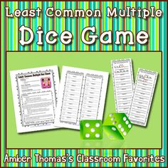 Gives students extra practice with multiples as well as finding the least common multiple with this simple partner dice game. Great to reuse with Lowest Common Denominators too! Currently $1.00.