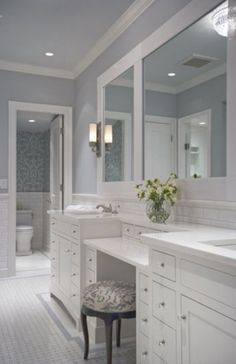 home bathroom Top Bathroom Vanity Ideas Home Bathroom Interior, Bathroom Furniture, Master Bathroom Vanity, Bathrooms Remodel, Bathroom Decor, Bathroom Remodel Designs, Trendy Bathroom, Bathroom Remodel Master, Tile Bathroom