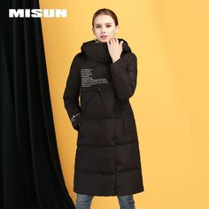 c62539d9416 Autumn winter new slim down jacket female long section thick warm long  women s clothing White duck