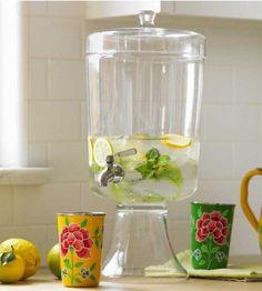 glass beverage urne
