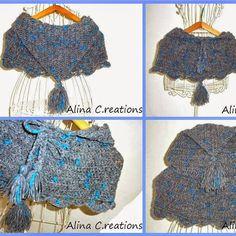 Lovely shoulder warmer with hood made in Saetta yarn;) Courtesy of @lospaziodililla   #adriafil #saetta #yarn #filato #shoulderwarmer #fluo #colours #knit #knitting #tricot #tricoter #maglia #knitwear