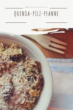 Quinoa ist gesund und lecker! Mit ganz viel Knoblauch, Champignons und Parmesankäse, wird daraus ein super leckeres Gericht!  Quinoa, Grana Padano, gesunde Gerichte, Familie, Küche, schnelle Rezepte