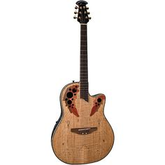 Buy Ovation Celebrity Deluxe CC44-SM Spalted Maple Top Mid-Depth Bowl Acoustic Electric Guitar at ZoZoMusic.com