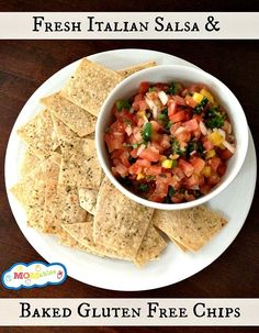#Fresh Italian Salsa and Baked Gluten Free Chips #Recipe