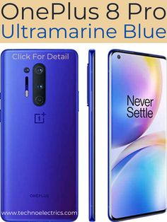 OnePlus 8 Pro Ultramarine Blue is a 5G supported unlocked android  smartphone. It has 12GB RAM and 256GB storage along with 120Hz Fluid  Display. Click for more detail. Best Smartphone, Android Smartphone, Latest Cell Phones, Newest Smartphones, Night Sights, Data Plan, Best Budget, Display Screen, Milky Way