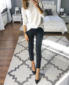 20 Warm Work & Office Outfits Ideas for Women When It's Cold - Outfits for Work - Casual outfits - Casual Dresses For Summer, Winter Outfits For Work, Casual Winter Outfits, Winter Work Fashion, Classy Outfits, Winter Office Outfit, Summer Outfits, Casual Winter Style, Winter Work Clothes