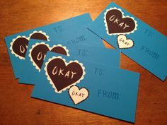 Okay Okay  TFIOS Inspired Valentine Card Set of by CoolStuffIWant, $8.00