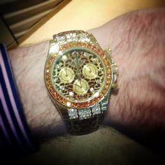Today's #womw via @MichaelSpiers #Leopard #Daytona #Rolex
