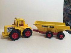 Vintage 1972 Lesney Matchbox Super Kings #K-5 Muir Hill Tractor & Trailer Rare - http://www.matchbox-lesney.com/50334