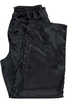 Men's Classic Satin Pajama Pants with Drawstring, Elastic Waist, Pockets & Button Fly