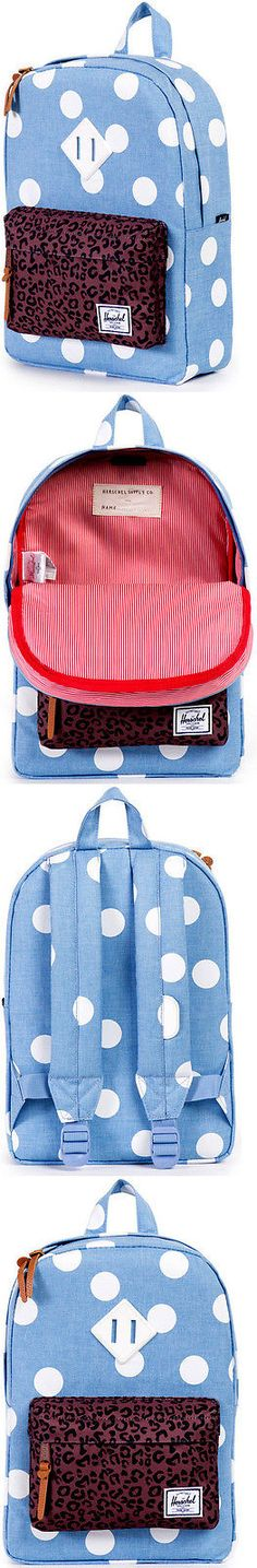 Bags 57748: Zaino Bambina O Herschel Backpack Kids Girl S Boy S Heritage 7.5L Chambray W Poi -> BUY IT NOW ONLY: $45.49 on eBay!