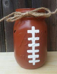 Football Mason Jar Teacher Gift Football by ArnasLovelyBoutique