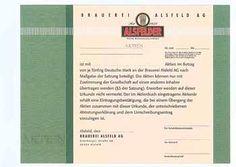 Brauerei Alsfeld AG Aktie 50 DM von 1993 (undatiert) (Blankette, R 8).