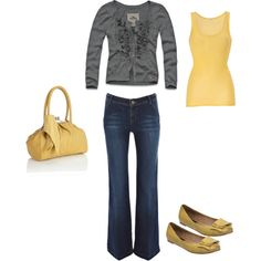 Gray and Yellow, created by love4design.polyvore.com