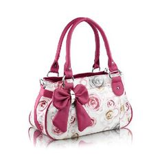 Casual Bowknot and Floral Print Design Women's Shoulder BagBags | RoseGal.com