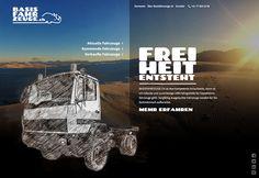 BASISFAHRZEUGE.CH ist die Anlaufstelle, wenn es um robuste, zuverlässige LKW-Fahrgestelle für Expeditionsfahrzeuge und Allrad Wohnmobile geht. Sorgfältig ausgesuchte Fahrzeuge (z.B Feuerwehrfahrzeuge) werden fachmännisch aufbereitet. PATMUELLER.CH durfte den bestehenden Brand sanft überarbeiten und die Website im Mandat von semikolon GmbH aus Chur gestalten. Das Webdesign zeichnet sich durch bildschirmfüllende Landschaften aus, welche kombiniert werden mit Bleistiftzeichnungen der Fahrzeuge. Chur, Web Design, Movies, Movie Posters, Truck, Motor Homes, Paisajes, Design Web, Film Poster