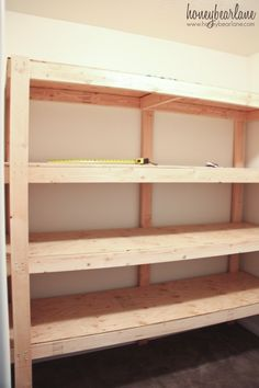DIY Storage Shelves - HoneyBear Lane