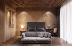Image result for textured wall with headboard master bedroom