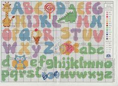 Alfabeto baby punto croce