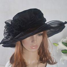 Kentucky Derby Hats for Women | Women Dress Kentucky Church Derby Hat Party Tea Party Hat Black | eBay