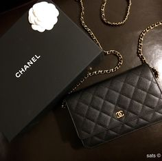 Chanel black caviar woc ghw bag #timeless❤️