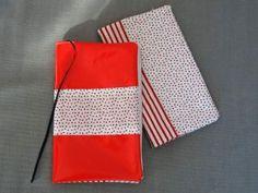 Porte chéquier en tissu