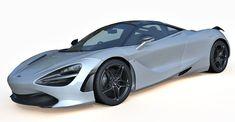 McLaren 720S 3d model, sports racing car. Detailed exterior and interior, good for closeup renders. Pivots set for open/close doors, bonnet and boot.