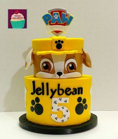 Trendy Ideas For Dogs Cake Paw Patrol Rubble Paw Patrol Cake, Paw Patrol Torte, Cake Disney, Paw Patrol Birthday Cake, Baby Boy Birthday, 3rd Birthday, Birthday Ideas, Dog Cakes, Cakes For Boys