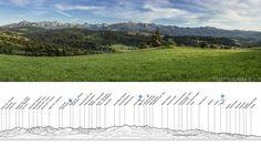 Severná strana Tatier - krásna panoráma od Jozef Pitoňák - Fotograf aj s popisom vrcholov.