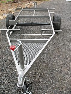 Click image for larger version Name: Views: 79 Size: KB ID: 48365 Tilt Trailer, Kayak Trailer, Off Road Trailer, Small Trailer, Trailer Plans, Trailer Build, Teardrop Trailer, Bike Cargo Trailer, Diy Camper Trailer
