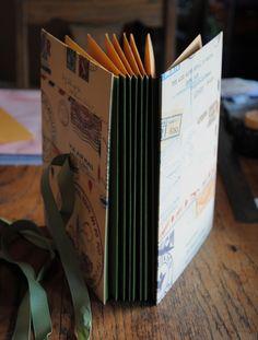 https://flic.kr/p/dJU4bj | Book 001 | Handmade book with envelope pages. Book 001 of 365. Blogged at: craftyminimeg.blogspot.com/2013/01/book-001.html