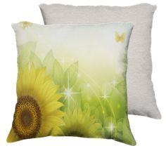 Sunflowers and Butterflies Pillow