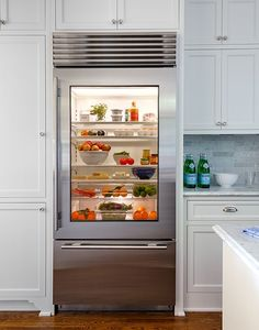 Before and After: Los Angeles project - Refrigerator - Trending Refrigerator for sales. - Before and After: Los Angeles project Marianne Simon Design Glass Front Refrigerator, Glass Fridge, Subzero Refrigerator, Large Fridge, Layout Design, Küchen Design, House Design, Kitchens, Ideas