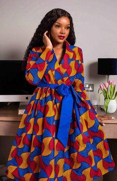 Ankara Dress Designs, African Print Dress Designs, African Print Skirt, African Print Clothing, African Print Dresses, African Print Fashion, African Shirt Dress, Africa Fashion, Tribal Fashion
